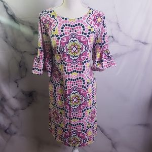 Crown & Ivy Ruffle Sleeve Dress